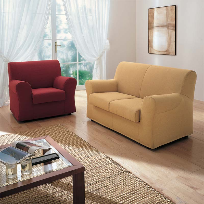 divano sintesi, sintesi sofa, sofa with matching armchair